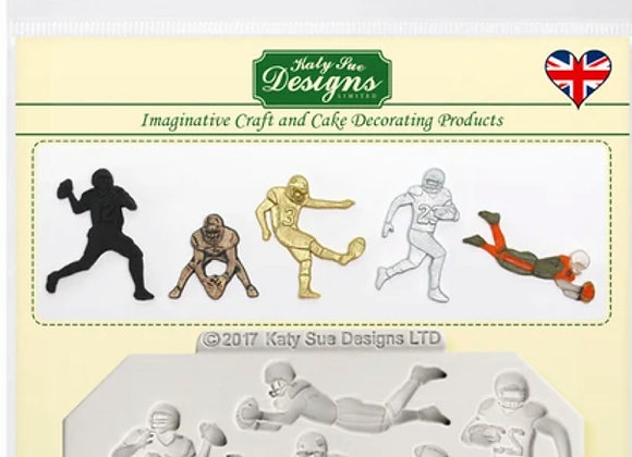 Football silicone mold by Katy Sue Designs CE0058