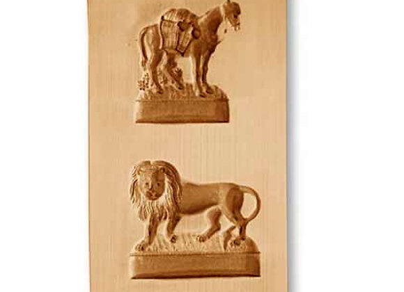 Tragant Donkey Lion front springerle cookie mold by Änis-Paradies 8102