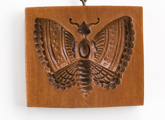 Elegant Moth Butterfly Springerle Cookie Mold by House on the Hill M5243