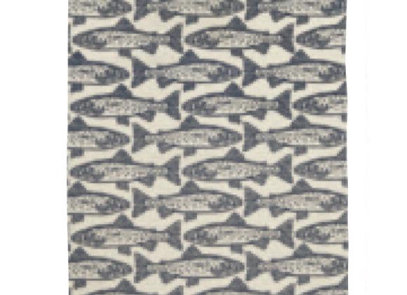 022SLM Salmon Cotton Tea Towel By Ulster Weavers