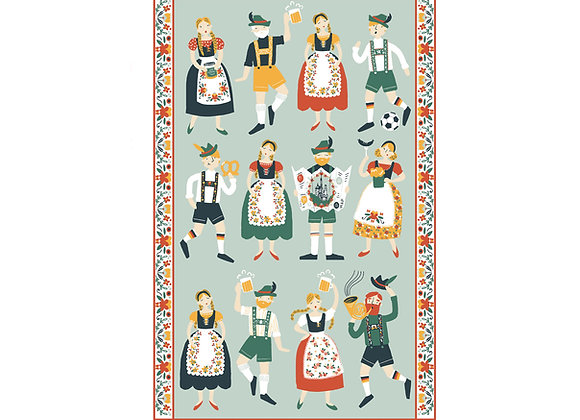 Folk Fest Springerle Cotton Tea Towel by Ulster Weavers 022FFTT