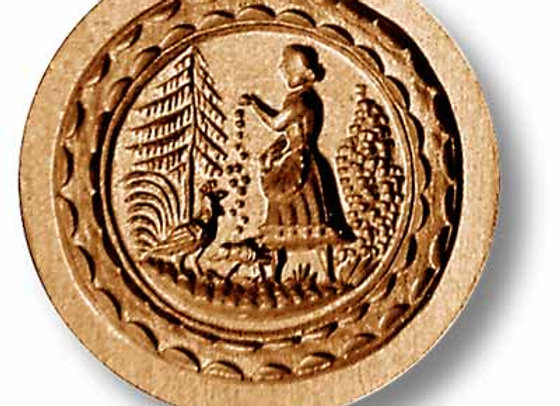 Farm Girl springerle cookie mold by Anis-Paradies 7250
