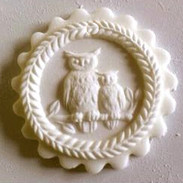 Owl and baby springerle cookie mold