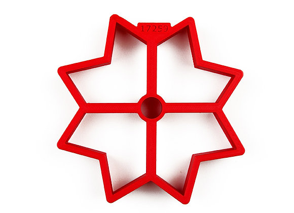 C - 1039.1 Flower Star with Center Hole cookie cutter - Gingerhaus 17259