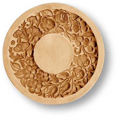 wreath floral springerle cookie mold ani