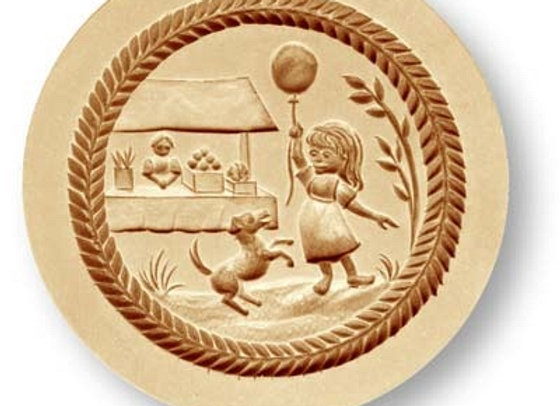 AP 7707 Girl at Fair Cookie Mold by Anis-Paradies