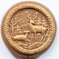 DECEMBER Deer gold springerle gingerbrea