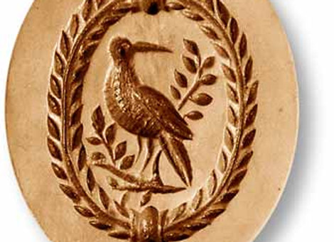 AP 3534 Bird oval springerle cookie mold by Anis Parad