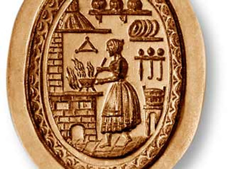 AP 7702 Woman in the Kitchen oval springerle cookie mold by Anis-Paradies 7702