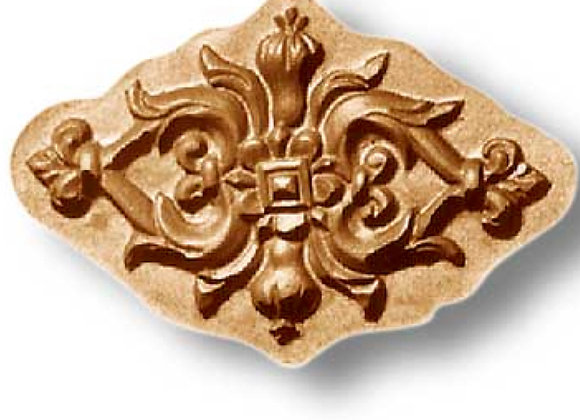 AP 2313 Ornament with Pomegranates springerle cookie mold by Anise Parad