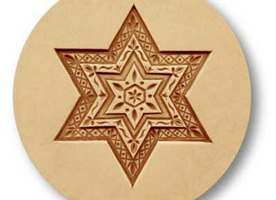 1694 Star with Diamond Pattern springerle cookie mold by Anis-Paradies