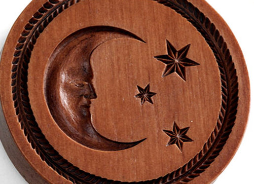 Celestial Moon Springerle Cookie Mold  by House on the Hill M5716