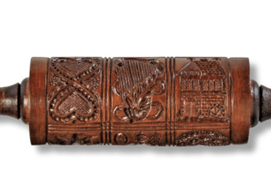 Folk Art Springerle Rolling Pin by House on the Hill M1556