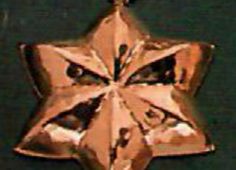 Swiss Star 14cm Copper Choclolate Baking Mold Birth-Gramm BG1220