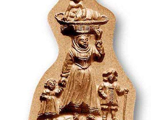 AP 9371 Mother with Three Children springerle cookie mold by Anis-Paradies