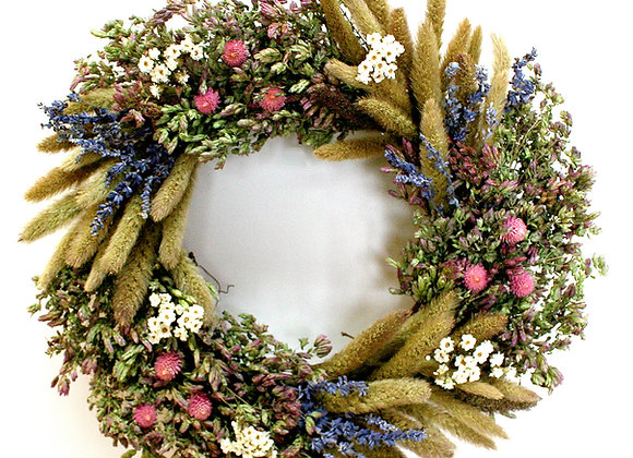 Lavender and Daisy Wreath by Creekside Farm