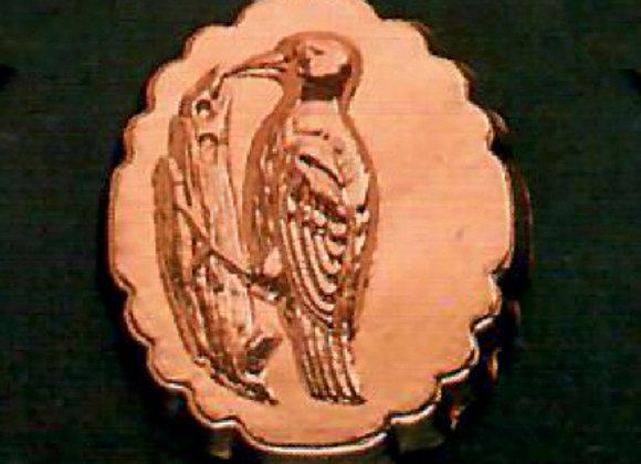 BG 1106-B Swiss Bird - Woodpecker Copper Chocolate Baking Mold - Bir