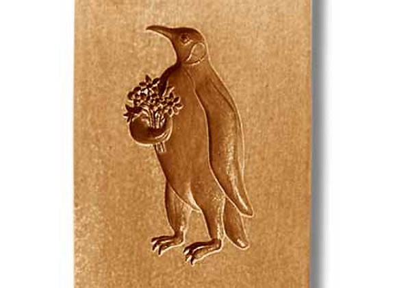 AP 3453 Penguin with Flowers springerle cookie mold by Anis-Paradies