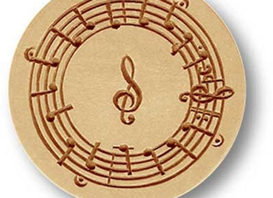 Music springerle cookie mold by Anise Paradise 6835