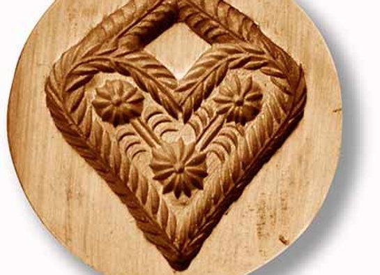 Flower Heart Speculaas cookie mold by Änis-Paradies 5227