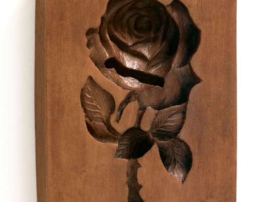 American Beauty Rose Springerle Cookie Mold  by House on the Hill M5884