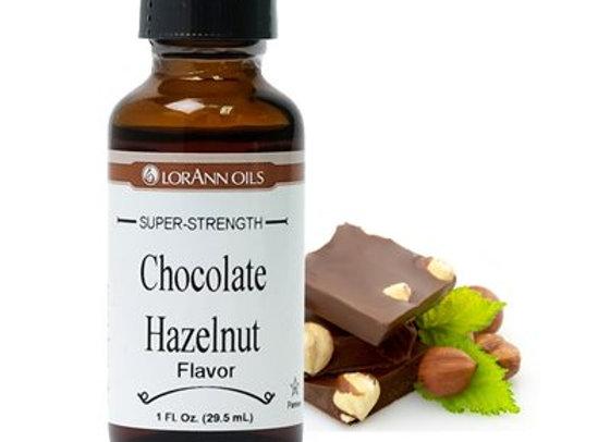 CHOCOLATE HAZELNUT FLAVOR OIL 1 OZ - by LORANN 0708-0500