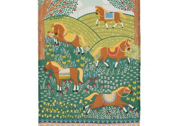 022HRS Hills & Tails Linen Tea Towel by Ulster Weavers