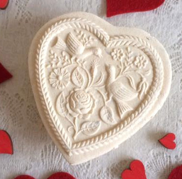 two doves heart springerle cookie mold c
