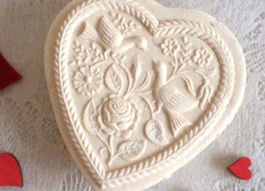 Two Doves Heart Springerle Cookie Mold By Anise Paradise 5100 Springerlecookiemold