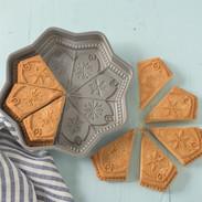snowflake shortbread cookie mold cake pan