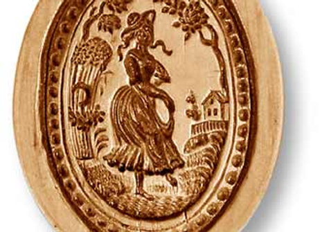Farm Girl oval springerle cookie mold by Anis-Paradies 7700