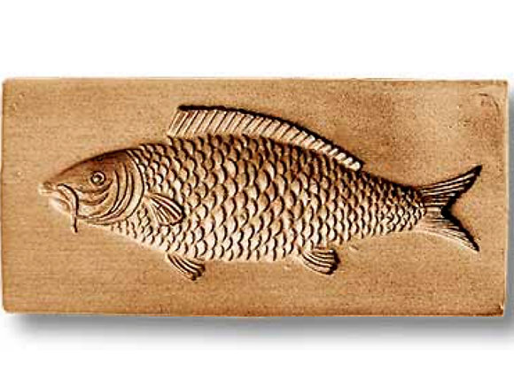 AP 3524 Wild Carp fish springerle cookie mold by Anise Paradise