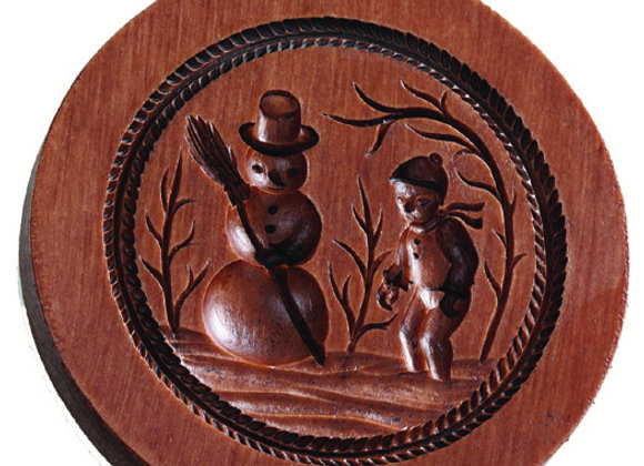 M2129 Snowman Springerle Cookie Mold  by House on the Hill