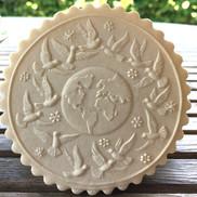 6394 world peace springerle cookie mold