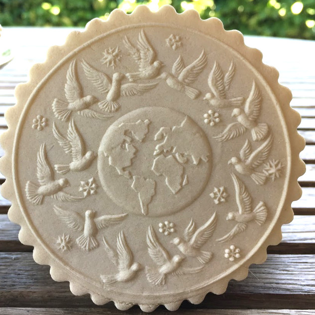 6394 world peace springerle cookie mold