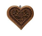 sentimental heart springerle cookie mold