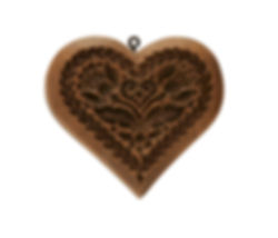 sentimental heart springerle cookie mold
