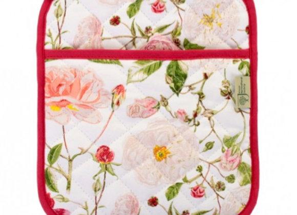 7RSE062 RHS Rose Garden Cotton Oven Mitt by Ulster Weavers