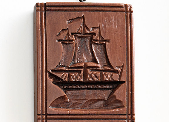 Three Masted Ship Springerle Cookie Mold  by House on the Hill M5209