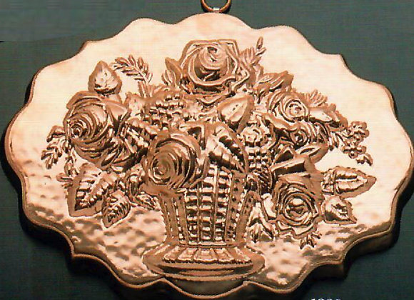 Swiss Basket of Flowers Copper Choclolate Baking Mold by Birth-Gramm BG1228