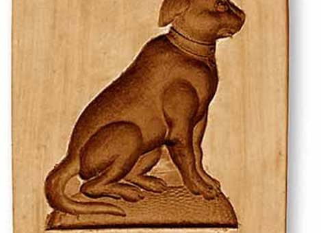 AP 3529 Dog springerle cookie mold by Anise Paradise
