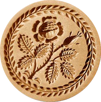 rose wreath border springerle cookie mol