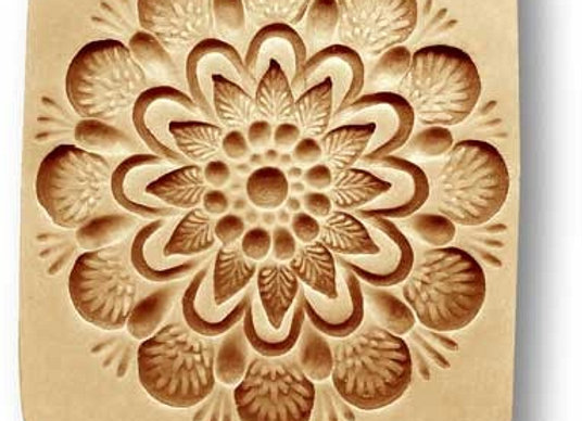 Flower Pattern fireworks springerle cookie mold by Anise Paradise 02744