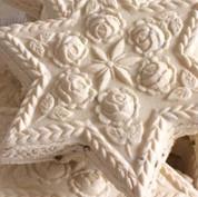 rose star springerle cookie mold cookies