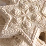 rose star springerle cookie mold