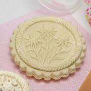three edelweiss cookie springerle cookie