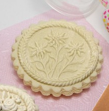 three edelweiss cookie springerle cookie