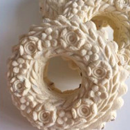 Wreath with Six Roses springerle cookie mold by Anise Paradise SKU: 02015