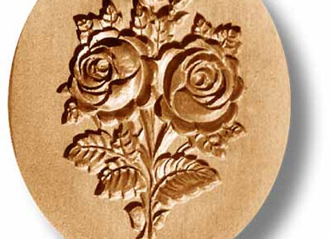 Double Rose springerle cookie mold by Anise Paradise 2298