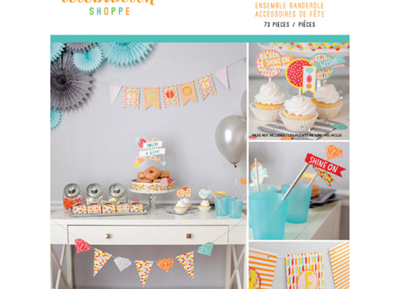 Geometric Celebrations Party Banner Accessories Kit
